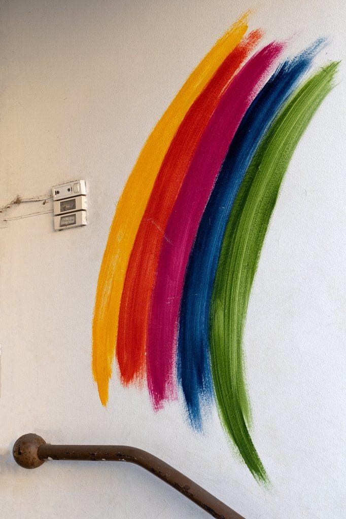 Regenbogen Streetart