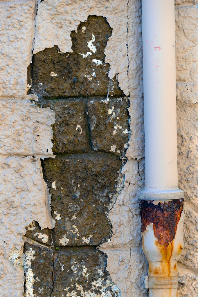 Streetart Wand Rohr