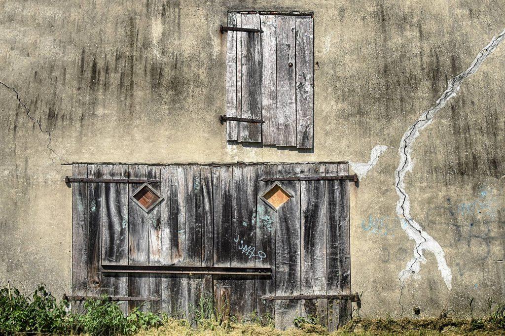 Straßenkunst Haus Schuppen